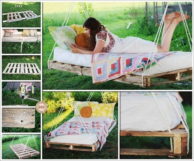 20+ DIY Patio y Jardín Columpios