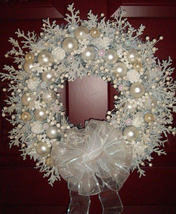 20+ Corona de Navidad Estilo Shabby Chic