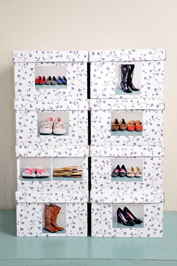 15+ DIY Almacenamiento Inteligente de Zapatos