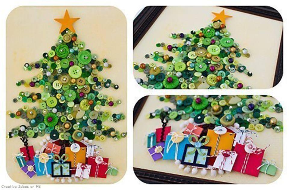 ideas originales para decorar en navidad con botones