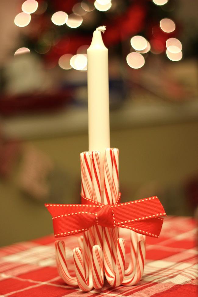 ideas originales para decorar portavelas para navidad