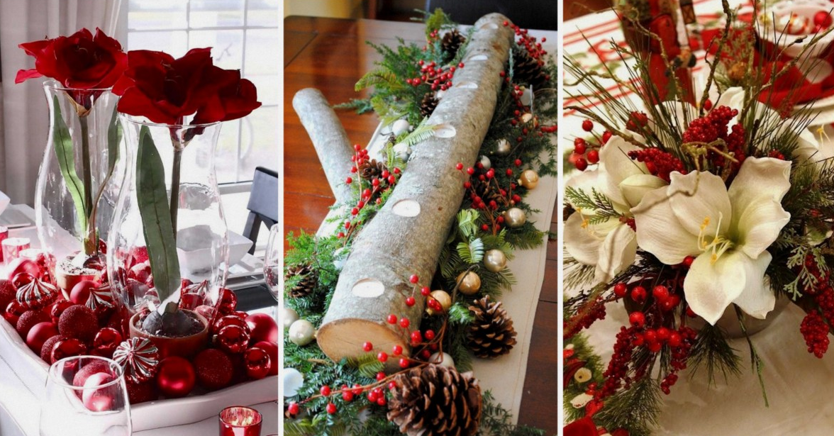 20 fant sticos centros de mesa navide os - Arreglos navidenos para mesa ...