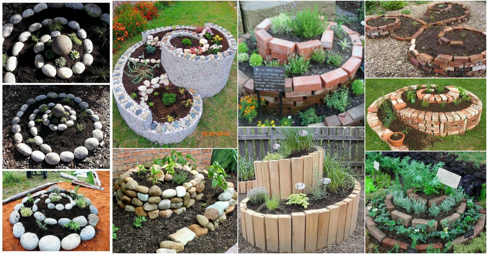 13 Inspiradoras Jardines En Espiral