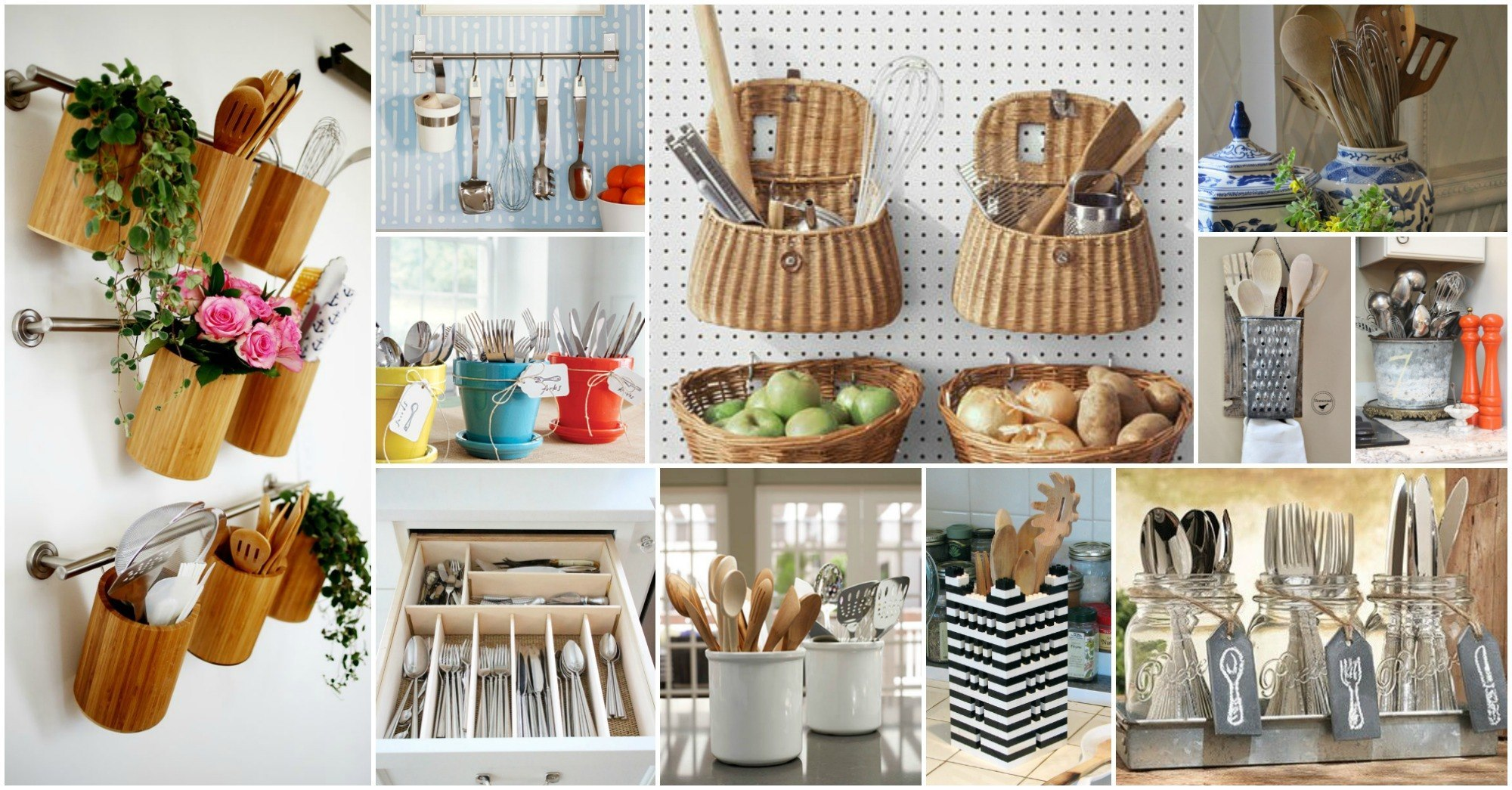 Ingeniosas formas para organizar los utensilios de cocina for Utensilios medidores cocina