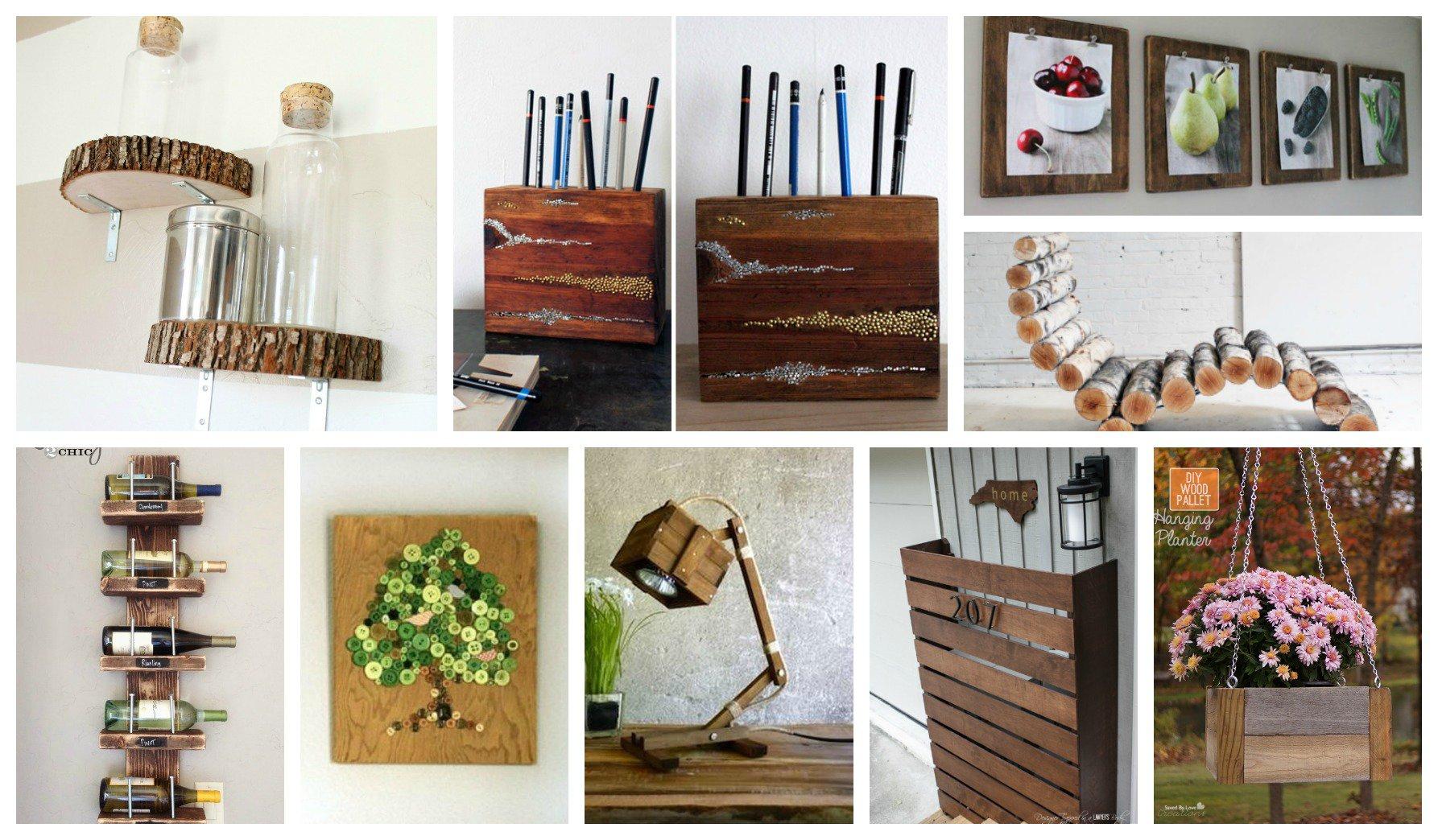 15 artesan as en madera que te sorprender n for Ideas decorativas economicas