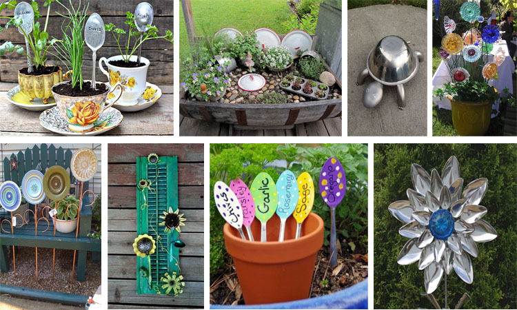 17 ideas originales para decorar el jardin con utensilios de cocina viejos - Ideas originales para decorar ...