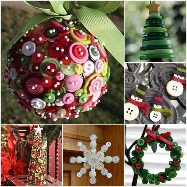15 ideas originales para decorar en navidad con botones - Ideas originales navidad ...