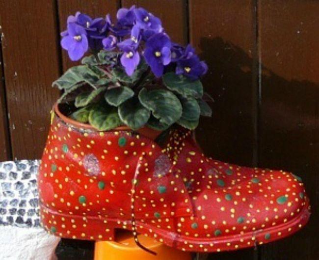 Haz Lindos Maceteros Con Tus Zapatos Viejos