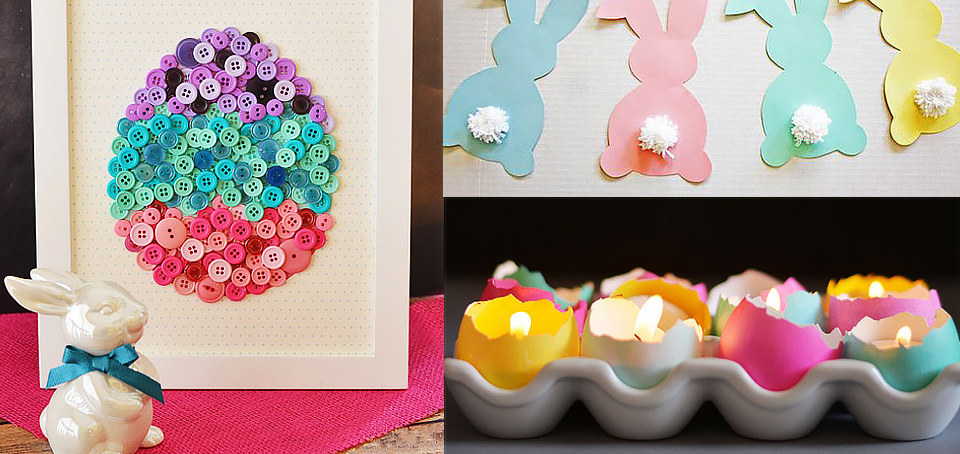 20 manualidades y decoraciones para pascua for Decoracion primavera manualidades