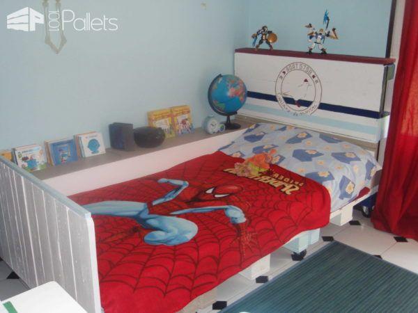 12+ Maravillosos Proyectos con Palets para Decorar Dormitorios