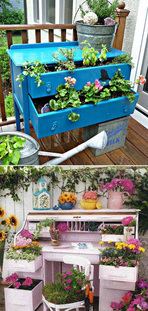 13 Ideas Geniales para Reciclar Muebles Para Hogar Y Jardín