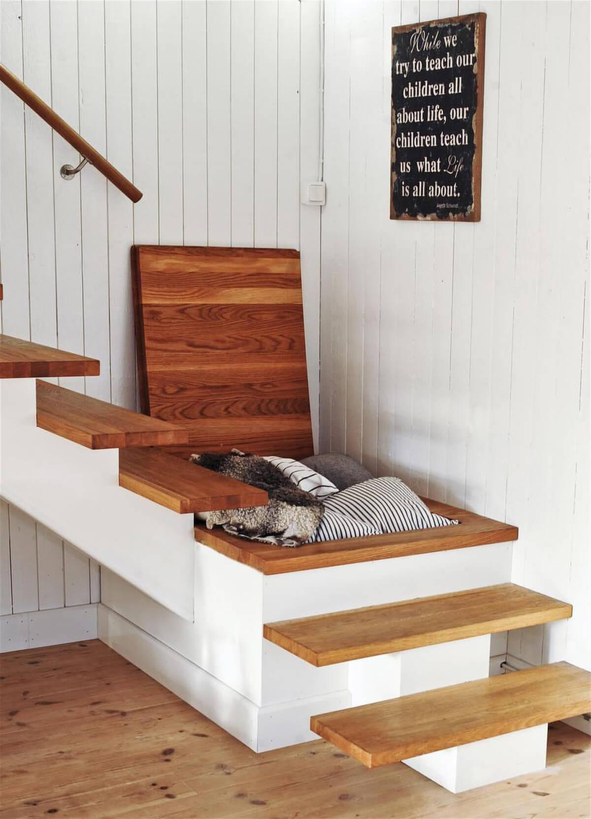 30+ Estupendas Ideas de Almacenamiento Oculto en Habitaciones