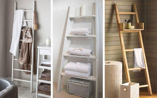 15 sorprendentes ideas diy de almacenamiento toallas de ba o for Colgador toallas para bano
