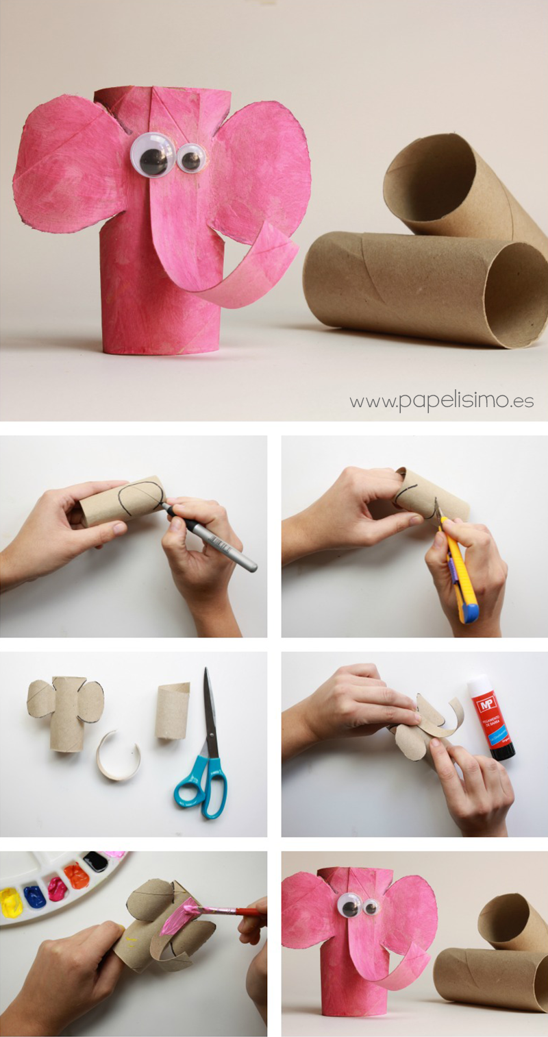 Animal Crafts with Toilet Paper Rolls