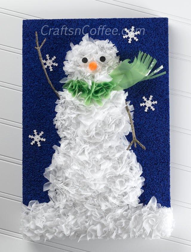 20+ Manualidades Creativas y Divertidas del Muñeco de Nieve