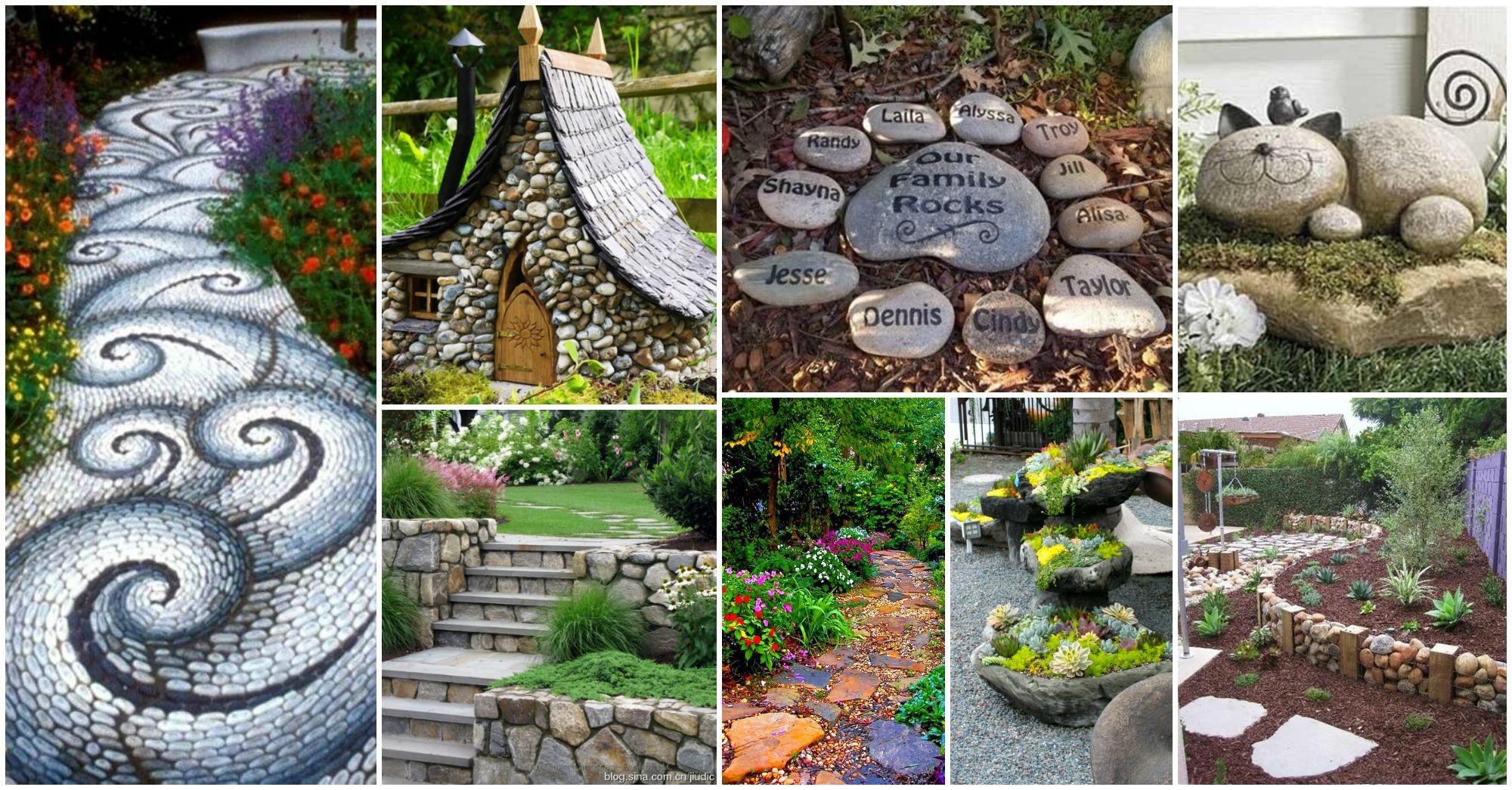 15 ideas fabulosas para decorar tu jard n con piedras for Ideas originales para jardines