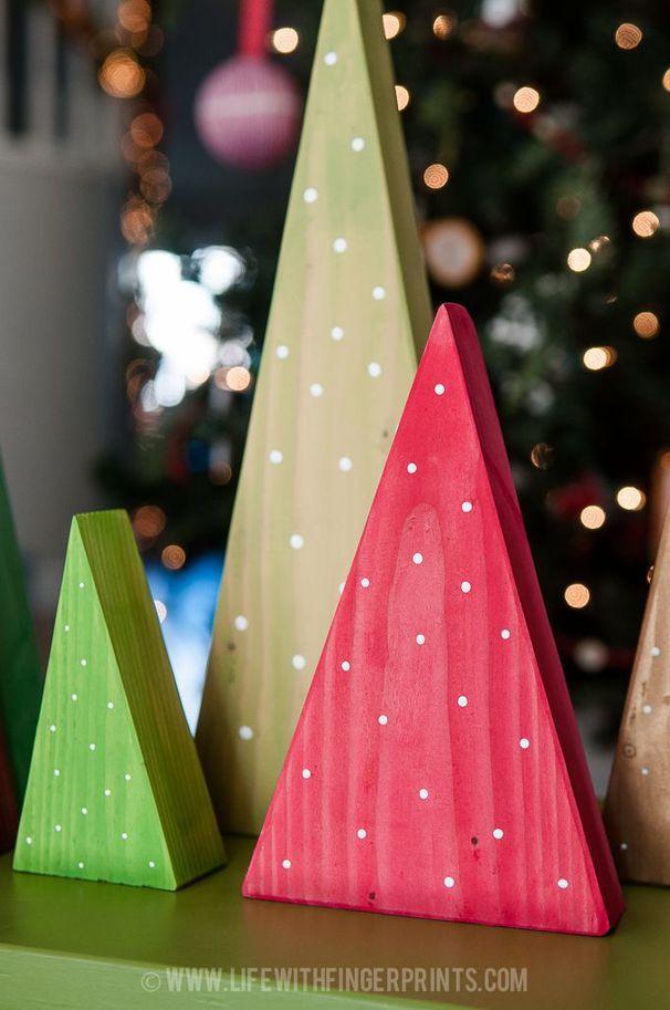 15+ Asombrosas Artesanias con Madera para Hacer en Navidad