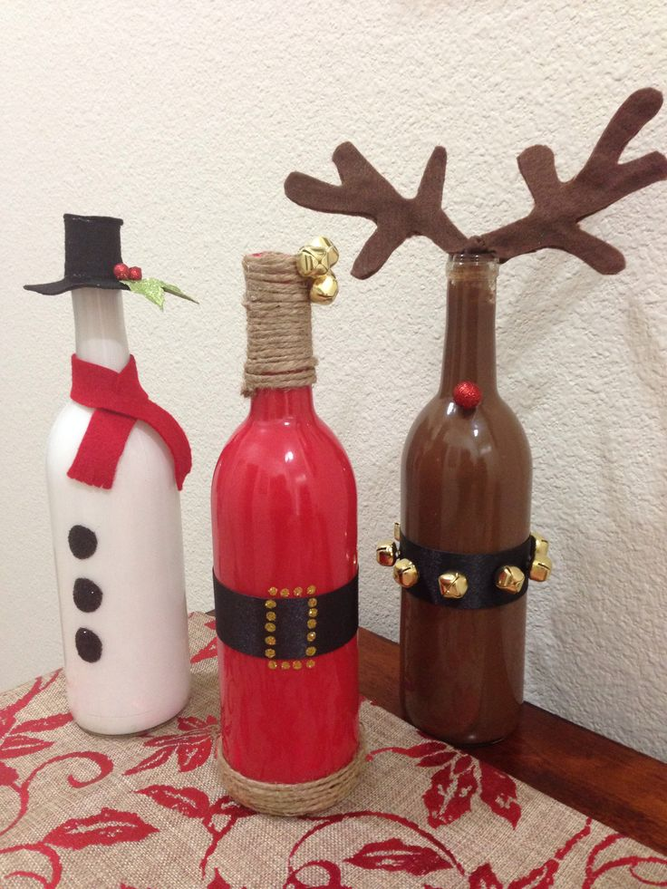 20+ Increíble Artesanías de Navidad con Botellas de Vidrio