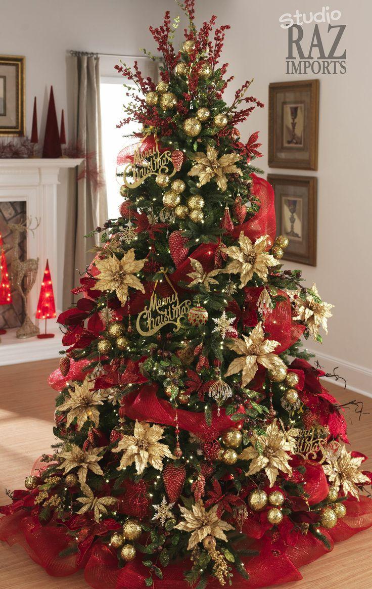 20 estupendas ideas para decorar arbol de navidad - Ideas para decorar estrellas de navidad ...