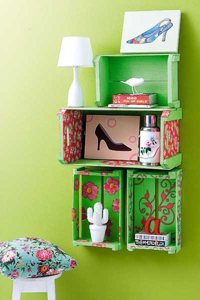 25 ideas geniales para decorar con cajas - Caja fruta decoracion ...