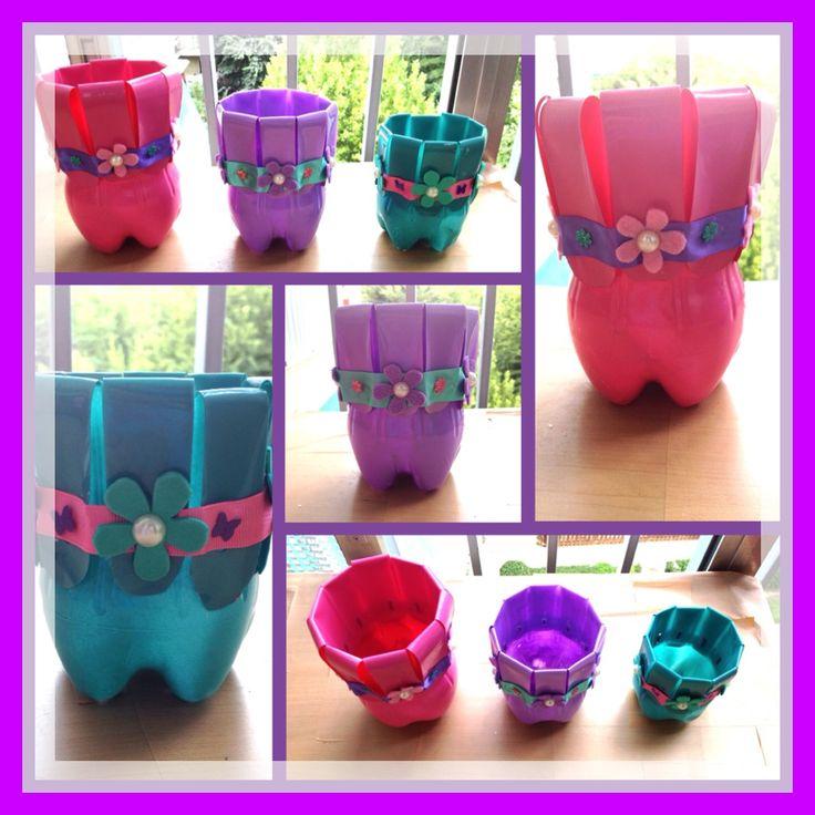 15 ideas sensacionales para decorar tu jard n con - Como pintar botellas de plastico ...