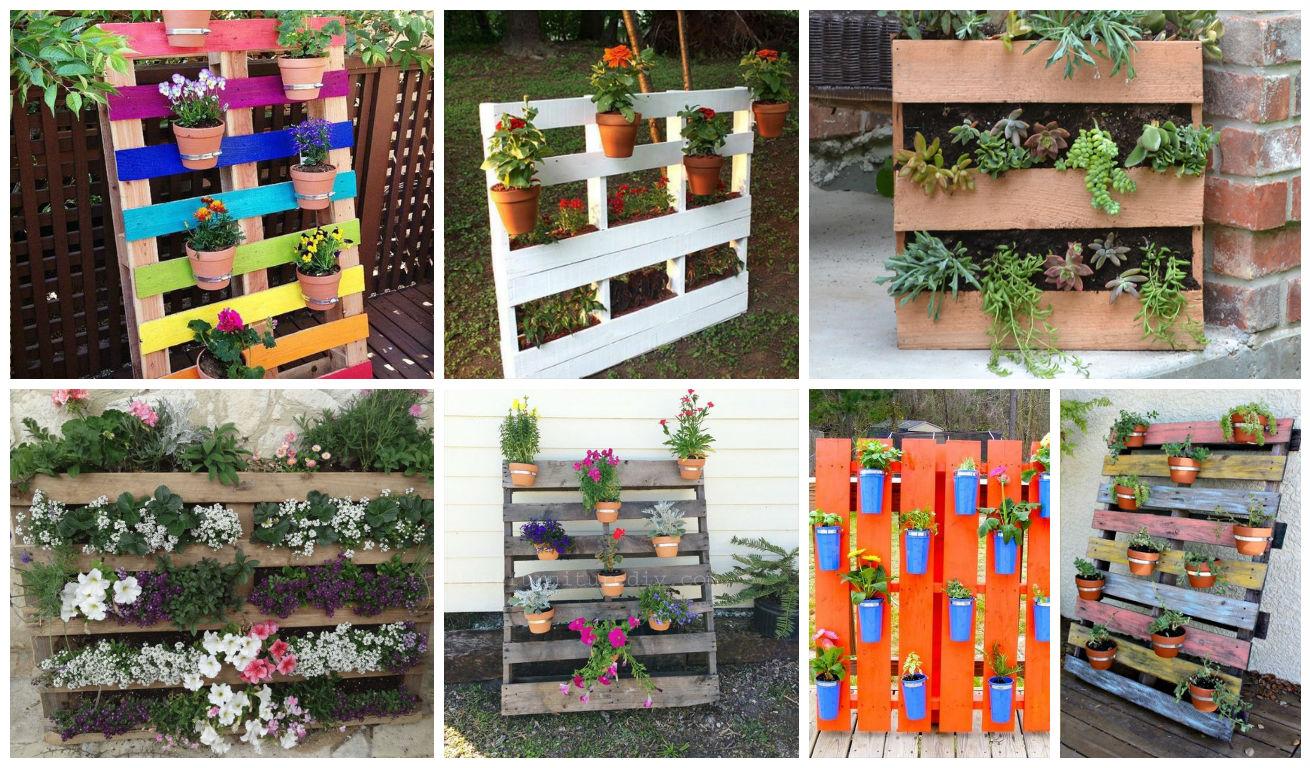 20 jardines verticales con palets para embellecer tu casa for Ideas para armar un jardin