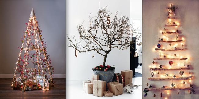 Ideas ingeniosas para Árboles de navidad alternativos