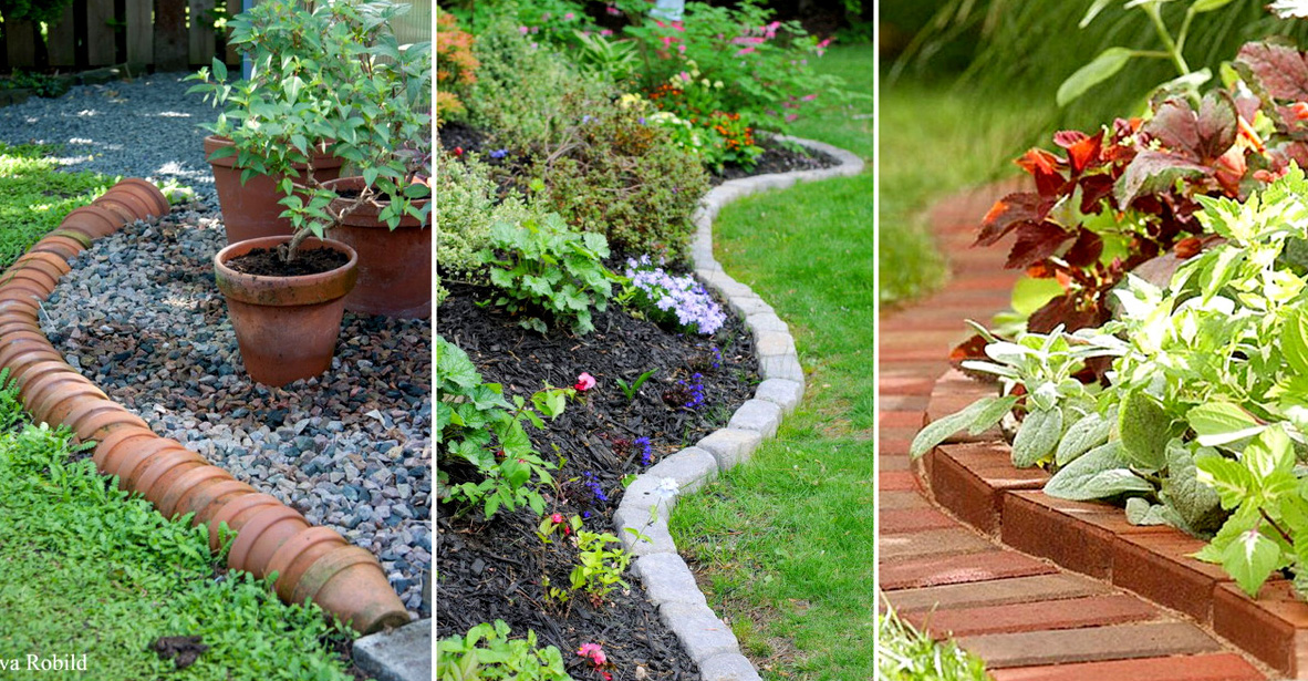 15 estupendas bordes de jardin for Borde plastico para jardin