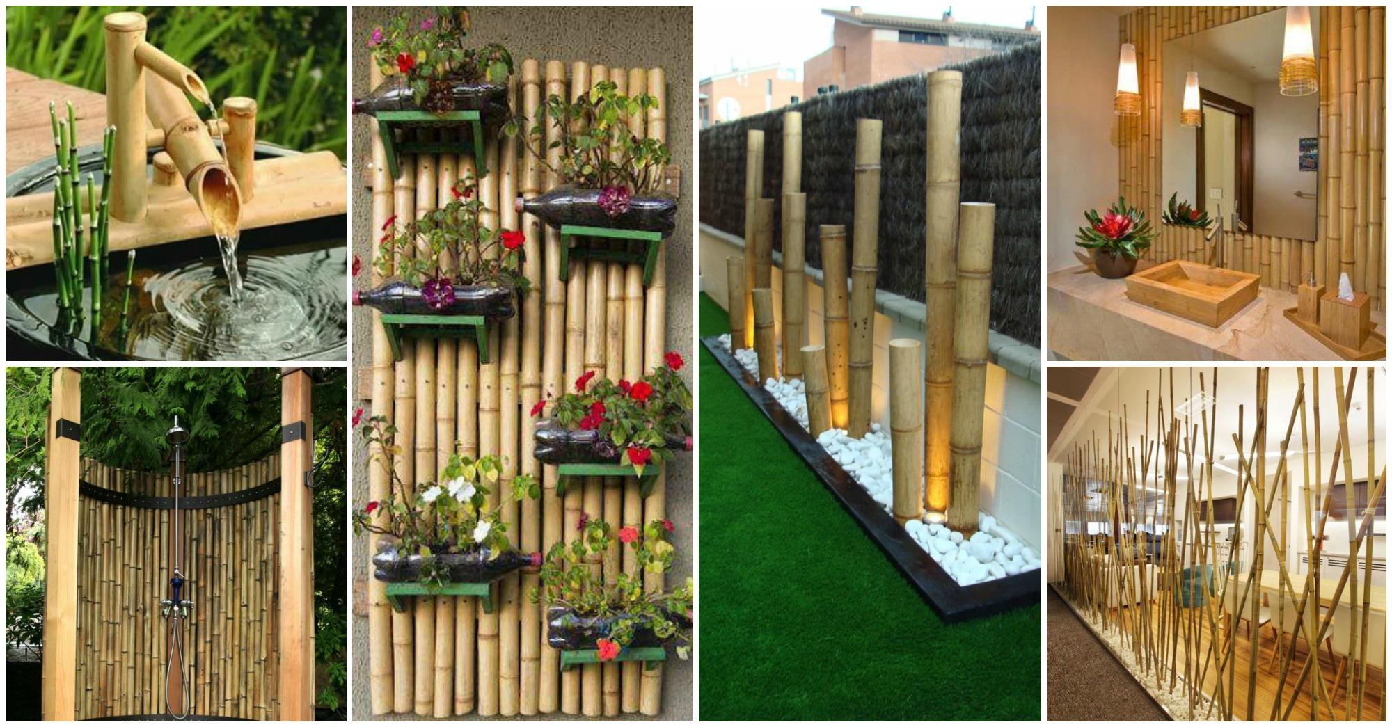 25 ideas impresionantes para decorar con bamb for Bambu seco para decoracion
