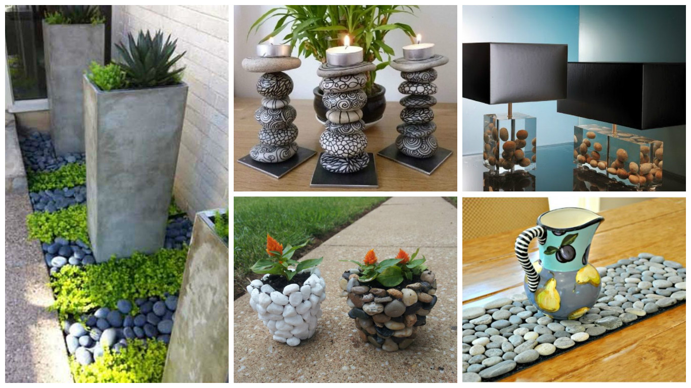15 ideas f ciles y creativas para decorar la casa con piedras for Ideas creativas para decorar