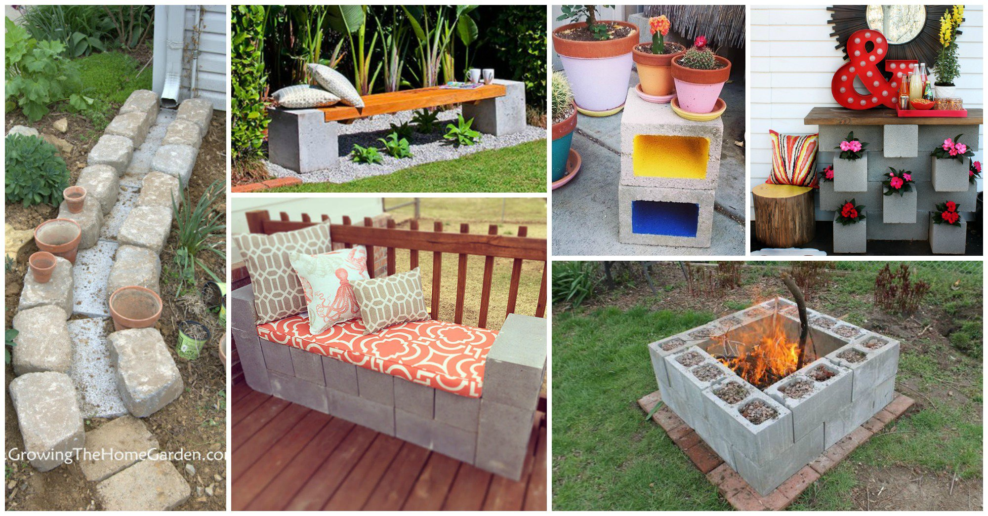 15 creativas ideas para tu jardin con bloques de cemento for Ideas jardin
