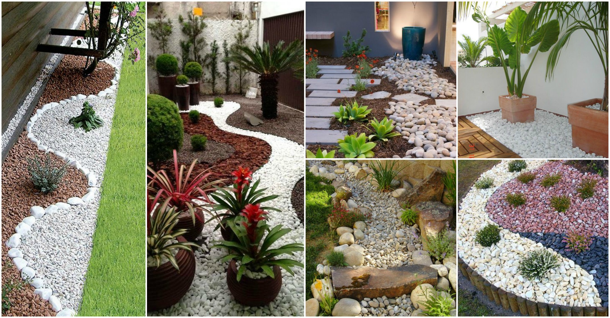 20 hermosas ideas para decorar tu jard n con piedras for Ideas para decorar patios y jardines