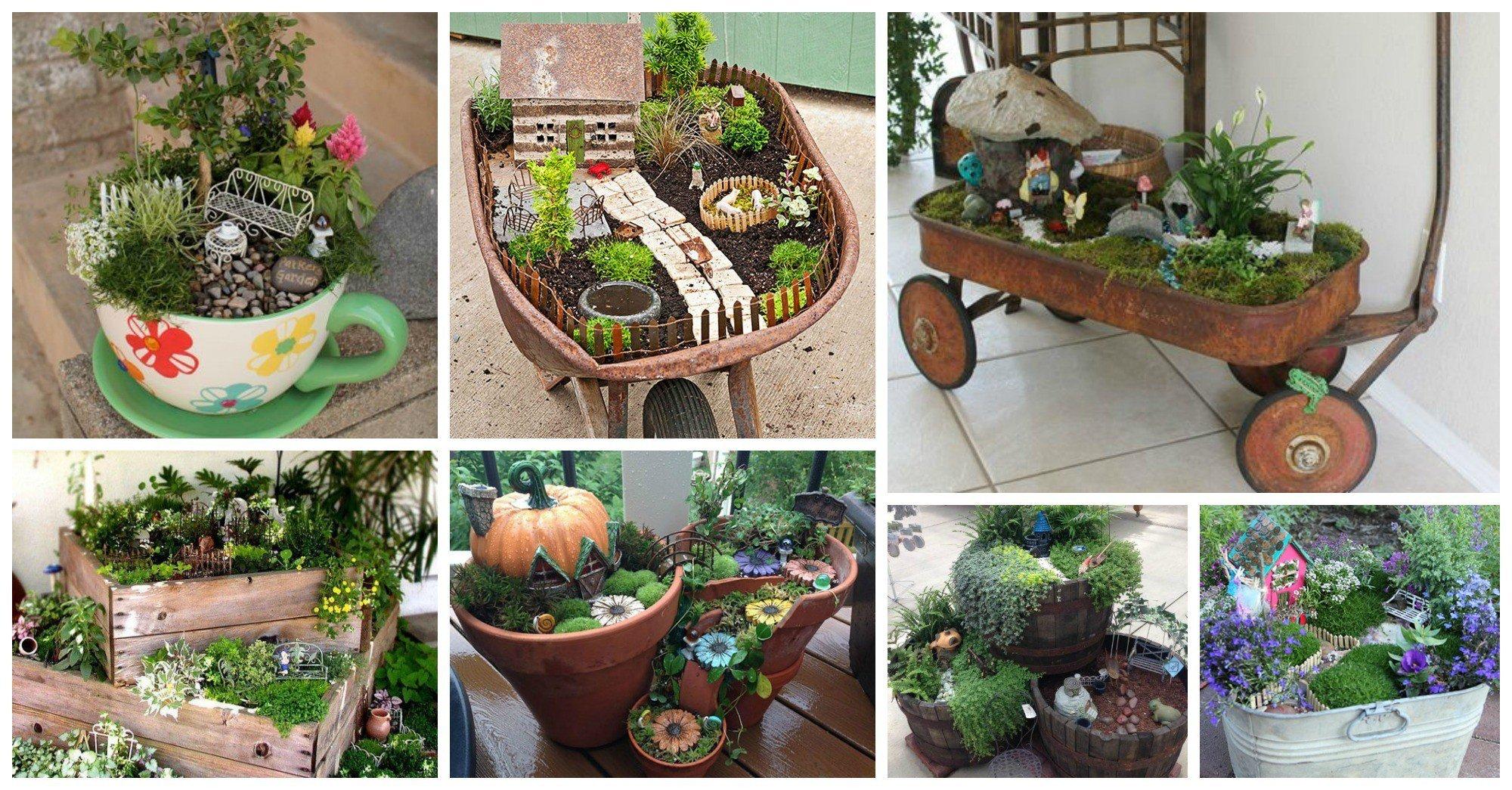Fascinantes jardines de hadas en miniatura for Jardines en miniatura