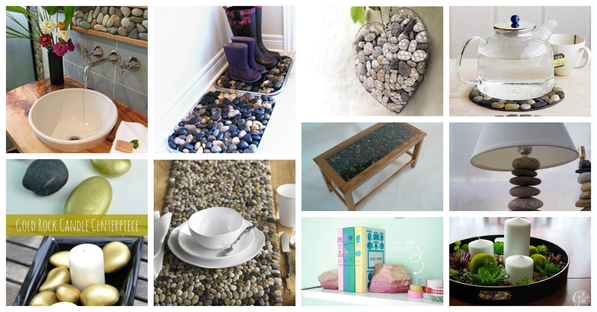 Brillantes ideas para hacer artesan as con piedras de r o for Como decorar plantas con piedras