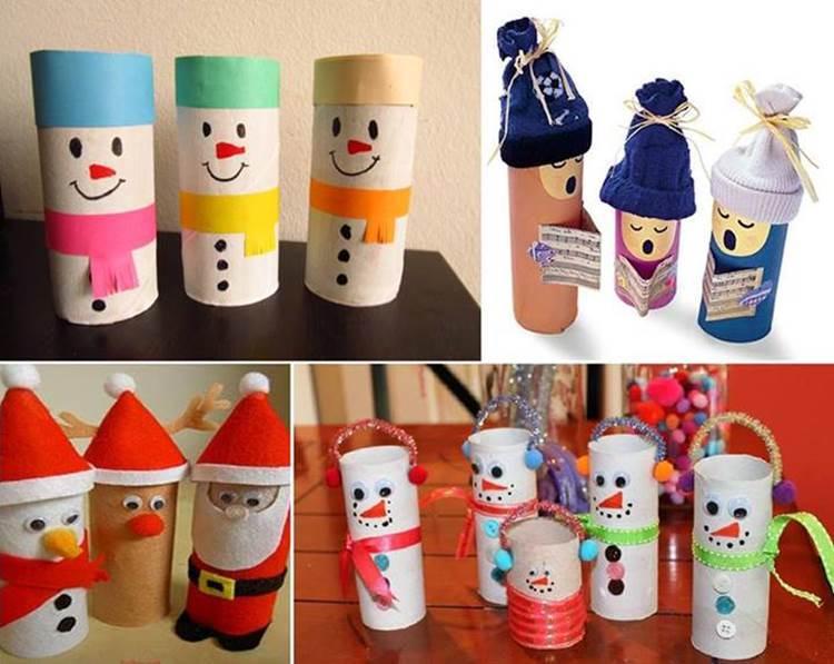 25 geniales adornos de navidad hecho con rollos de papel - Decoracion con rollos de papel higienico ...