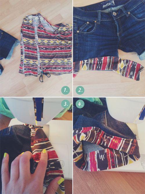 DIY Fascinantes Pantalones Cortos de Unos Jeans Viejos