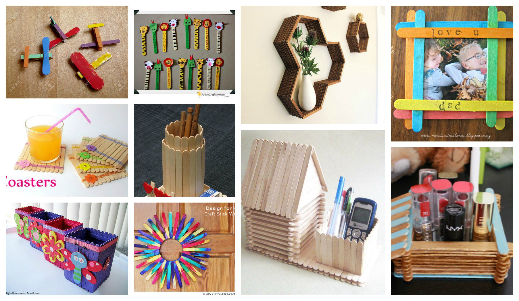 25 incre bles ideas creativas para reciclar palitos de helado - Ideas creativas para reciclar ...