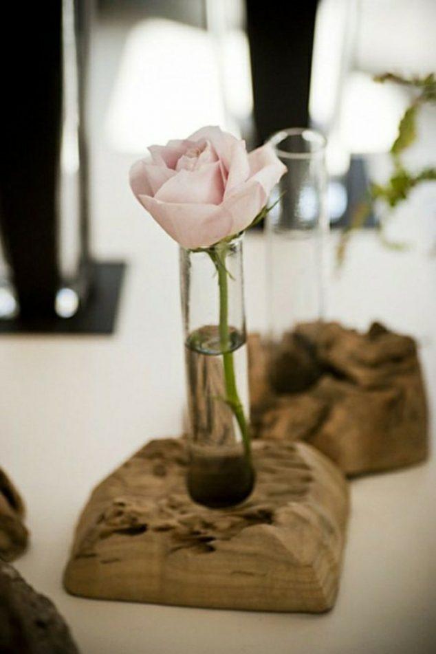 10+ Encantadores Floreros de Madera DIY