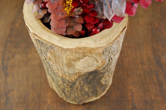 para usted encontrar y salvar vasos de tocón de madera diy que la