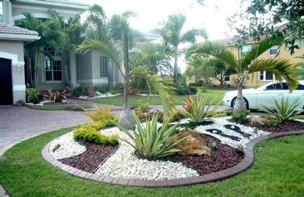 15+ Ideas Impresionantes de la Decoración de la Grava Blanca para su Jardín