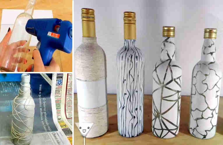 Ideas creativas para decorar botellas de vidrio for Ideas creativas para decorar el hogar
