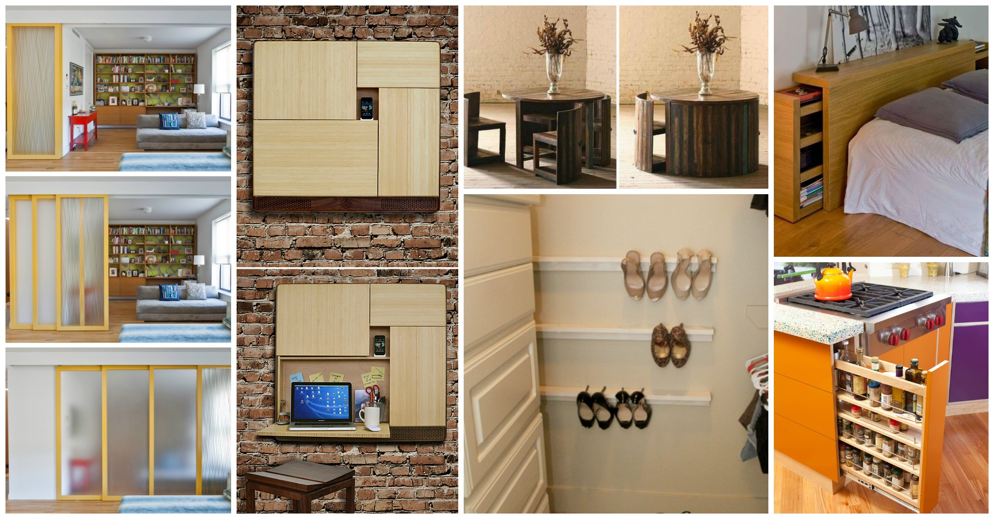 20 ideas incre bles para ahorrar espacio que har n tu for Muebles practicos para casas pequenas