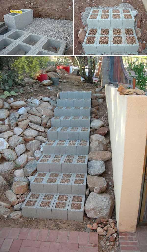 15+ Ideas Funcionales con Bloques de Concreto