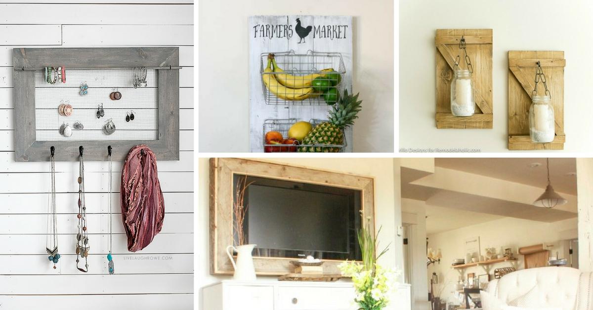 20 artesanias fantasticas para decorar tu hogar con for Decorar una casa de campo