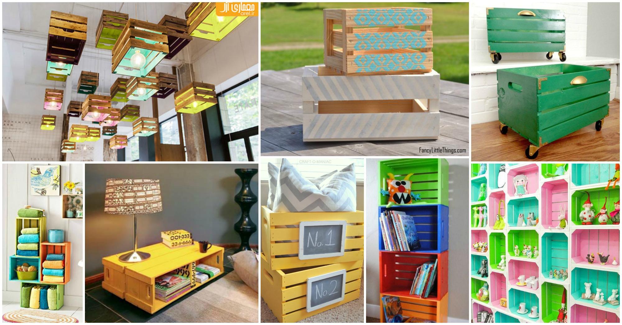 15 nuevas ideas para pintar y reutilizar cajas de madera for Ideas con cajas de madera