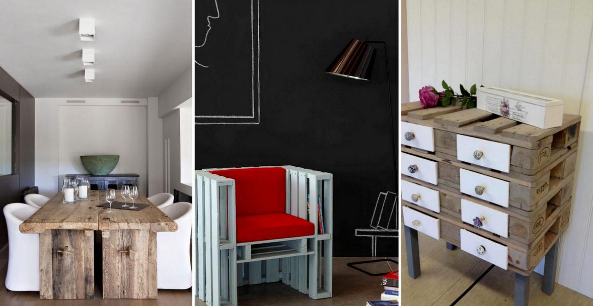 15+ Ideas de Muebles de Paletas Asombrosos y Barata