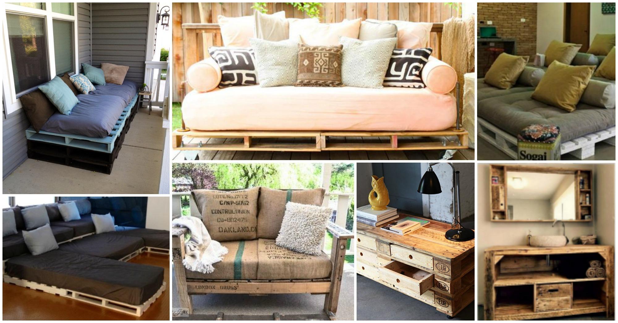 15 originales muebles hechos con palets para decorar tu hogar Muebles hechos con estibas