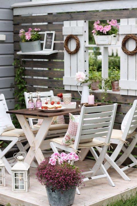 15 maravillosas ideas para decorar patios y terrazas con for Ideas para terrazas y patios