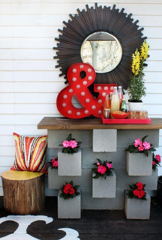 15+ Creativas Ideas para tu Jardin con Bloques de Cemento