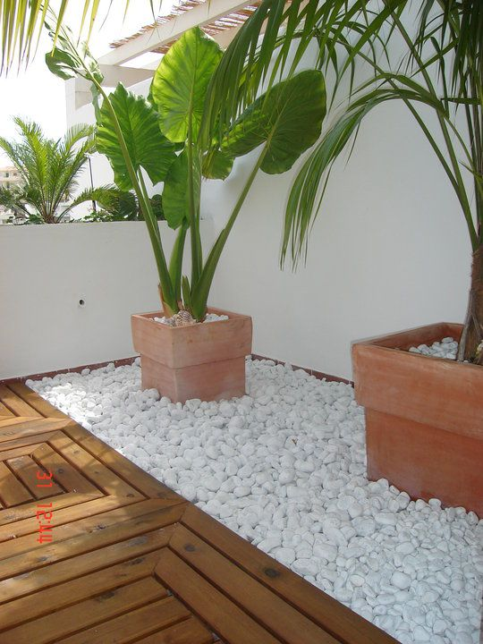 20 hermosas ideas para decorar tu jard n con piedras for Ideas para decorar un jardin con piscina